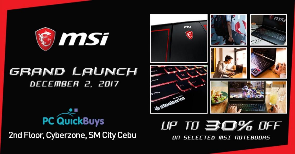 MSI Gaming is coming in Cebu this December!