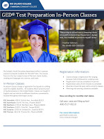 "Flier for Rio Salado GED TEST Preparation In-Person Classes.  Text in blog.  Additional details at www.riosalado.edu/ged.  Image of Rio HSE student speaker Heather Lyn Ashman. Quote: ""Returning to school was a stepping stone on a path to becoming the person I always was, but needed to prove to myself to be."""