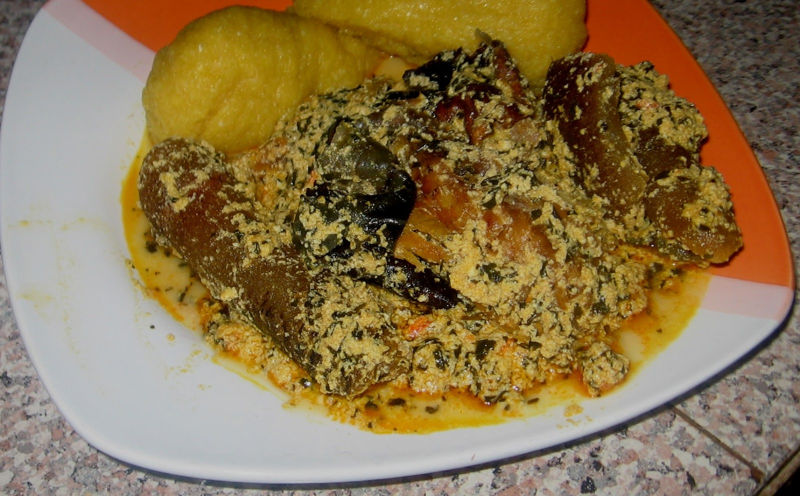 Image result for eba and egusi soup