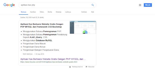 Cuplikan Unggulan di Halaman Penelusuran Google