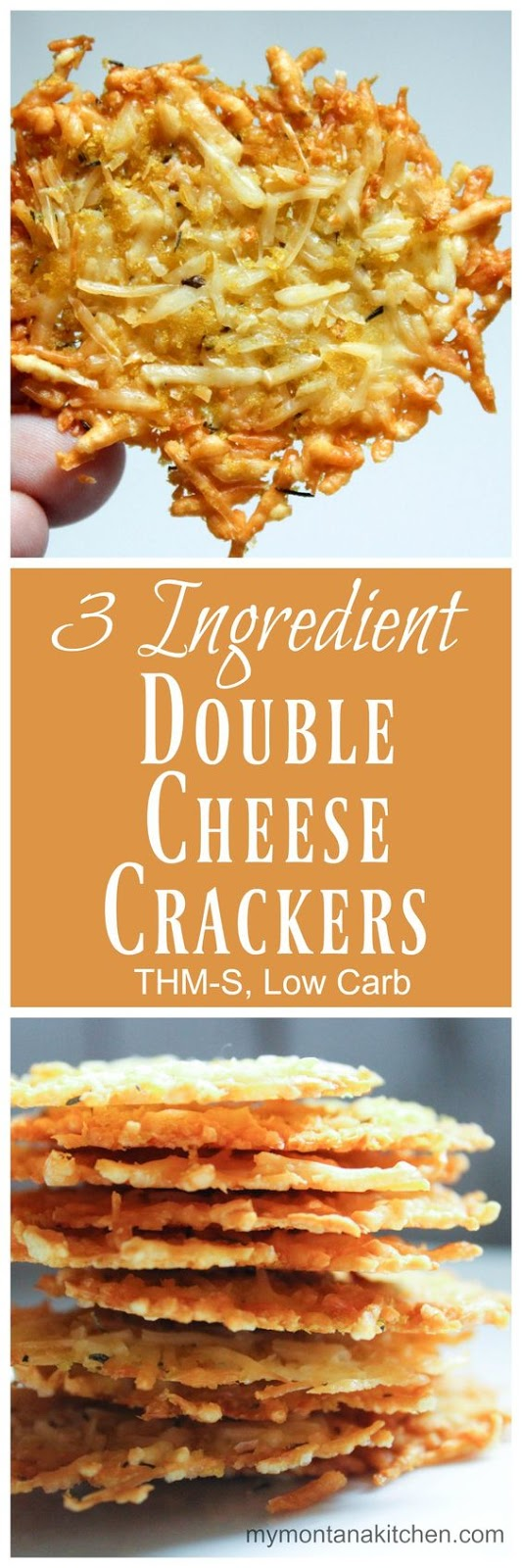 3 INGREDIENT DOUBLE CHEESE CRACKERS