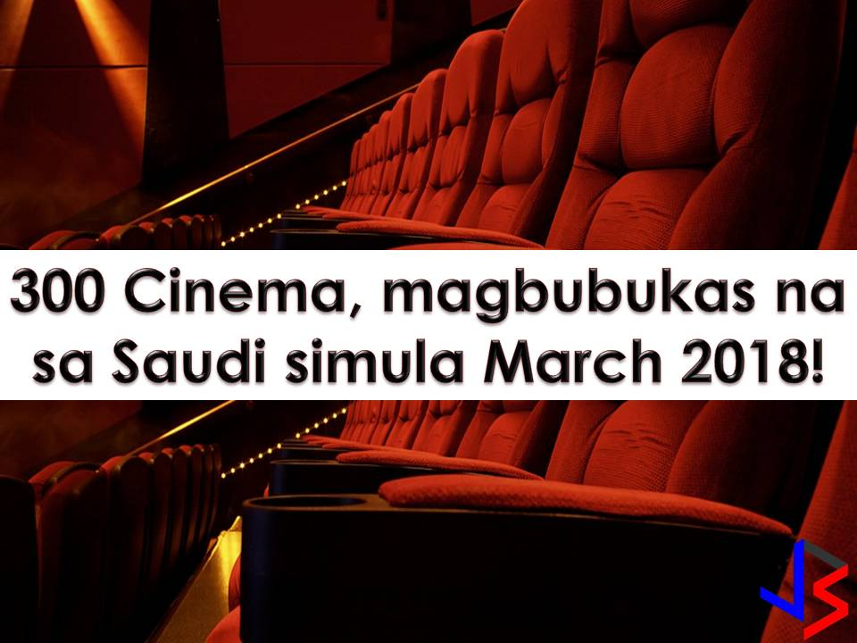 One more thing Overseas Filipino Workers (OFW) will miss while working in Saudi Arabia is the opportunity to watch movies on the big screen or cinema.    But starting March 2018, a ban on cinemas in Saudi Arabia will be a thing of the past. This is after the Kingdom lifted a decades-long ban on commercial cinemas.    The measure is part of Crown Prince Mohammed bin Salman's Vision 2030 social and economic reform programme.