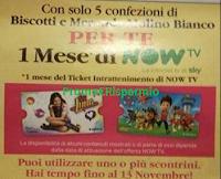 Logo Mulino Bianco ti regala un mese di Now TV: premio sicuro