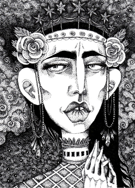 1920's Gothic Ink Drawing