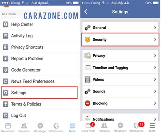 Cara Keluar dari Facebook Messenger di iPhone 6 / 6 Plus / 6S / 6S Plus