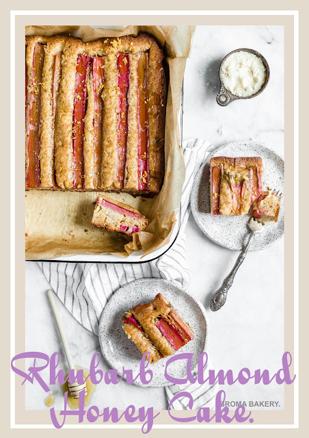 Rhubarb Almond Honey Cake Recipe