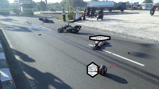Innalillahi, Mengerikan! Kecelakaan Maut di Cirebon : Kepala Pemotor Terlepas Dari Badan