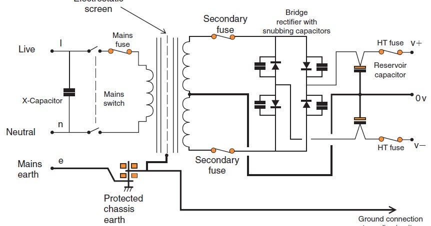 Wiring & diagram Info: Power supply circuit suitable with