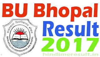 Barkatullah University Result 2017 B.Com 4th Sem