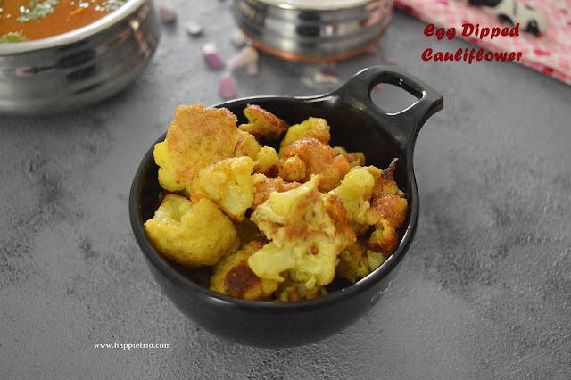 Egg Dipped Cauliflower Recipe | Egg Coated Gobi Florets