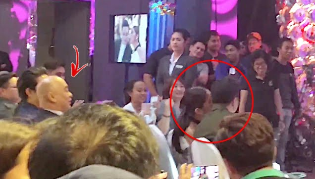 Alden Richards and Maine Mendoza congratulate each other with kisses