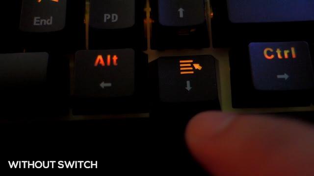 gk61 gateron red optical keyboard