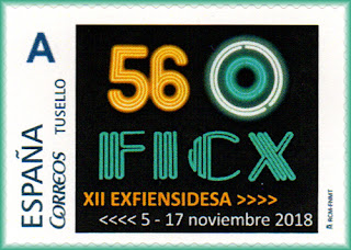 Sello personalizado del 56 Festival Internacional de Cine de Gijón del Grupo de Ensidesa