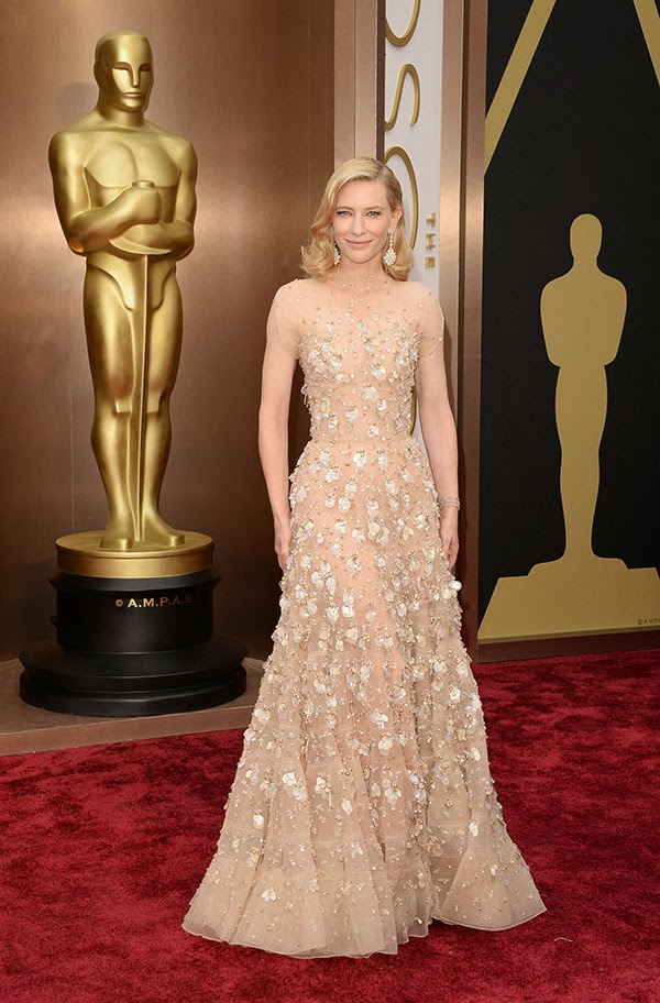 Cate Blanchett in Armani at the Academy Awards 2014