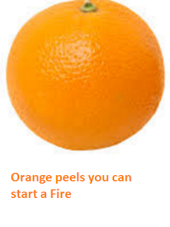 Orange peels you can start a Fire - Oranges citrus fruit peel (Santre Ke Chilke)