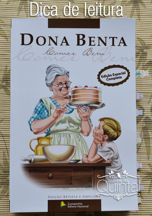 Dica de Leitura na Cozinha do Quintal: Dona Benta Comer Bem