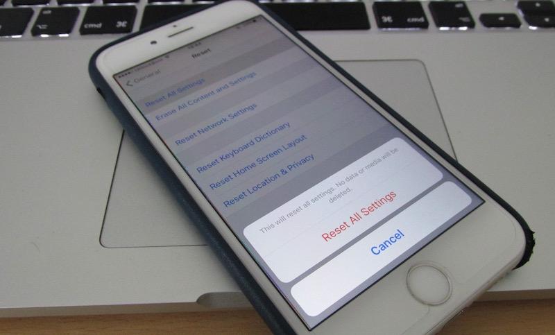 reset a frozen iPhone