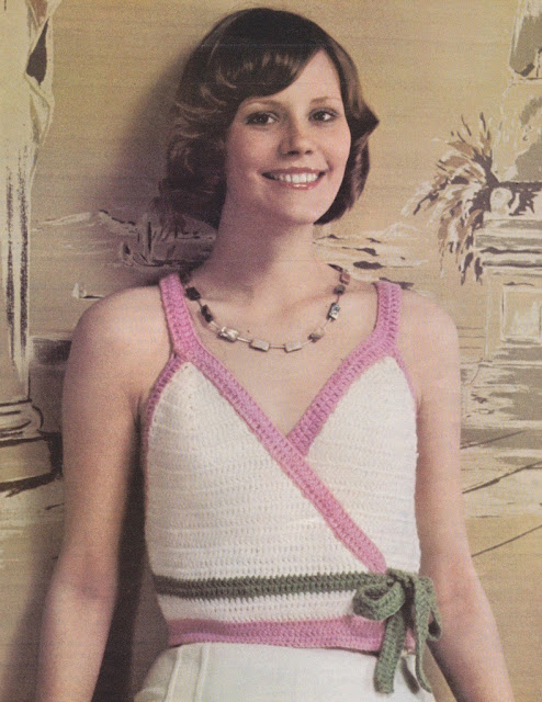 The Vintage Pattern Files: Free 1970's Crochet Pattern - Surplice Vest