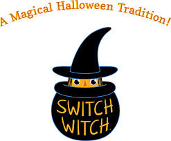 Halloween Tradition of switch candy for toys