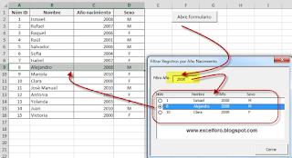 VBA: Elementos filtrados en un UserForm.