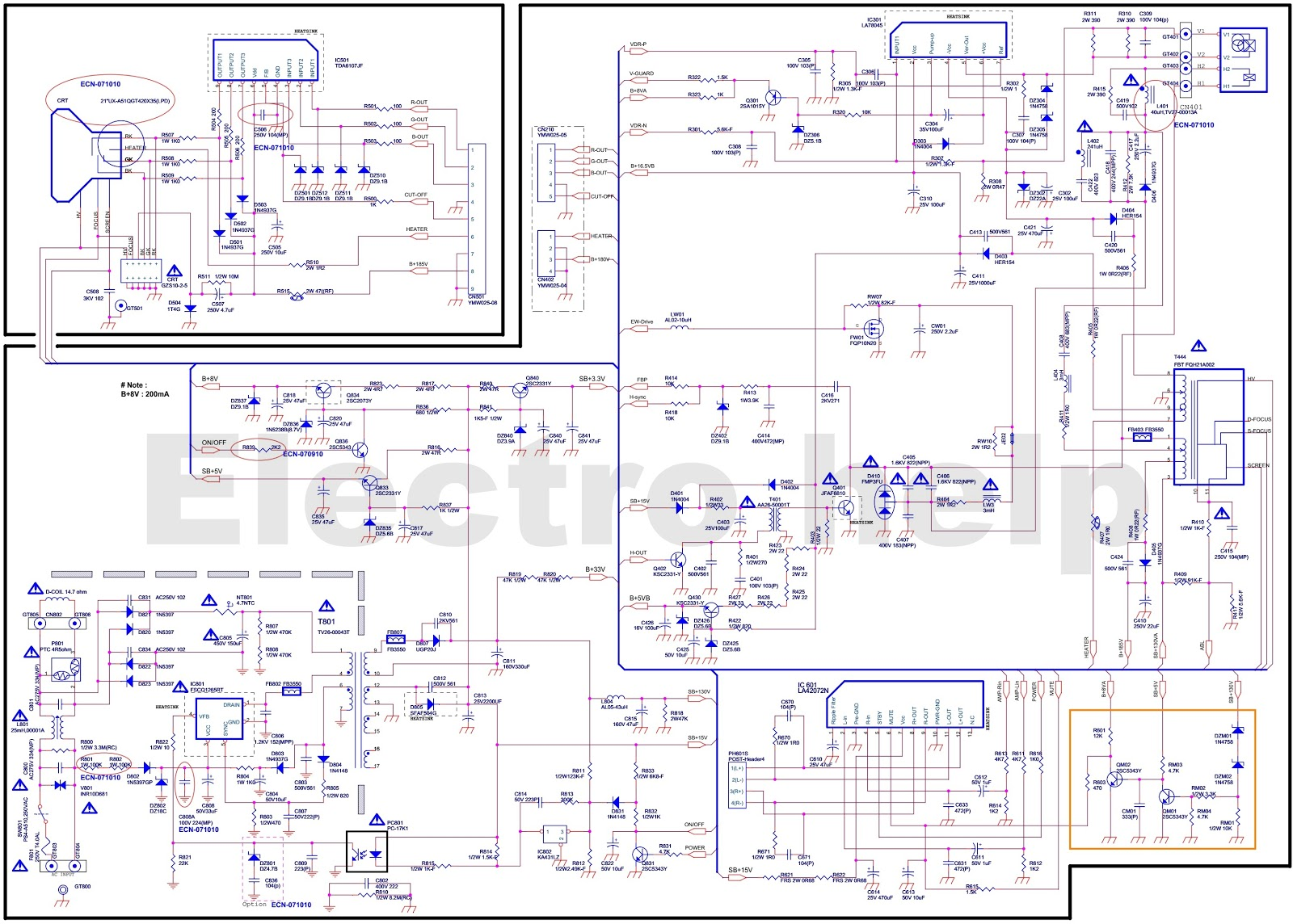 Color TV CRT type - circuit diagram - TDA9363PS N3 4 2010 ... on