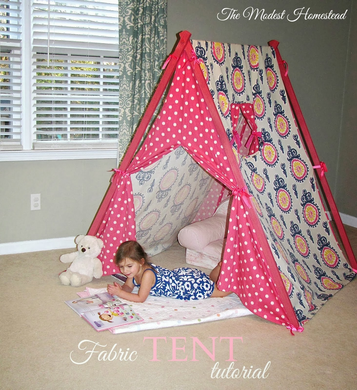 kids fabric tent tutorial