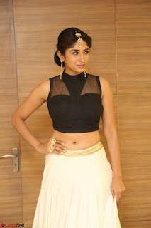 Roshni Prakash in a Sleeveless Crop Top and Long Cream Ethnic Skirt 012.JPG