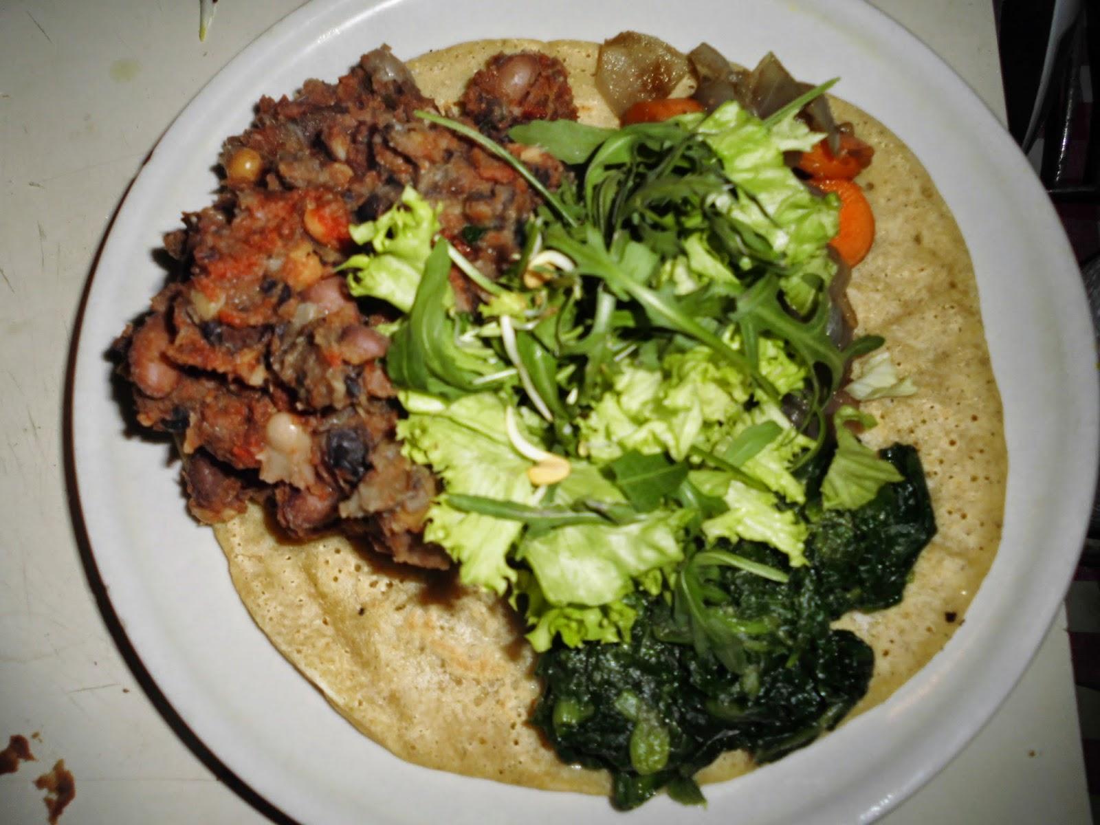 injera vegan ricetta