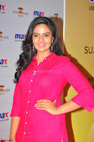 Sree Mukhi in Pink Kurti looks beautiful at Meet and Greet Session at Max Store (23).JPG