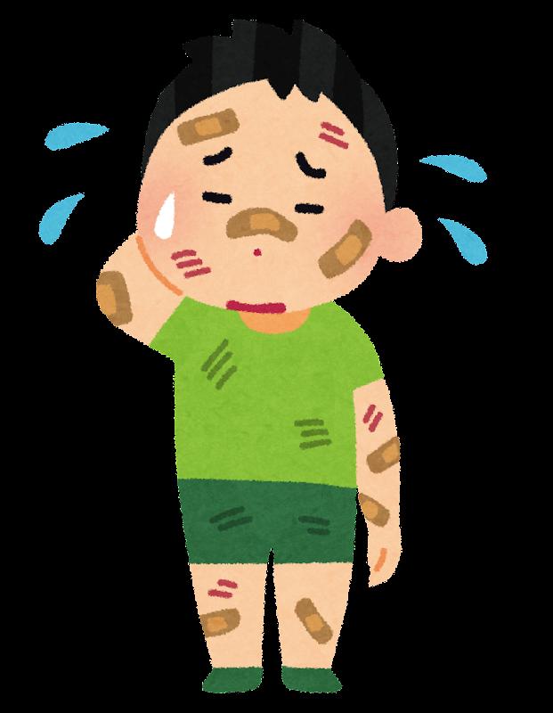 怪我をしている男の子のイラスト | かわいいフリー素材集 いらすとや