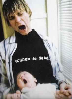 grunge is dead t-shirt Kurt Cobain Nirvana