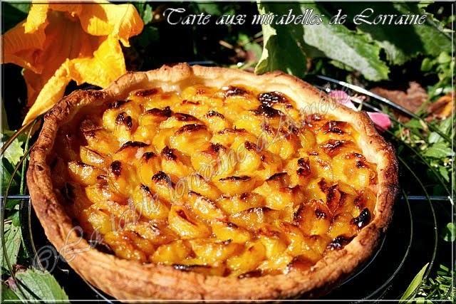 La table lorraine d 39 amelie tarte aux mirabelles de lorraine - Recette avec des mirabelles ...