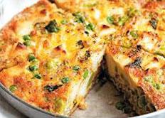 Resep praktis (mudah) frittata spesial (istimewa) khas italia enak, sedap, gurih, nikmat lezat
