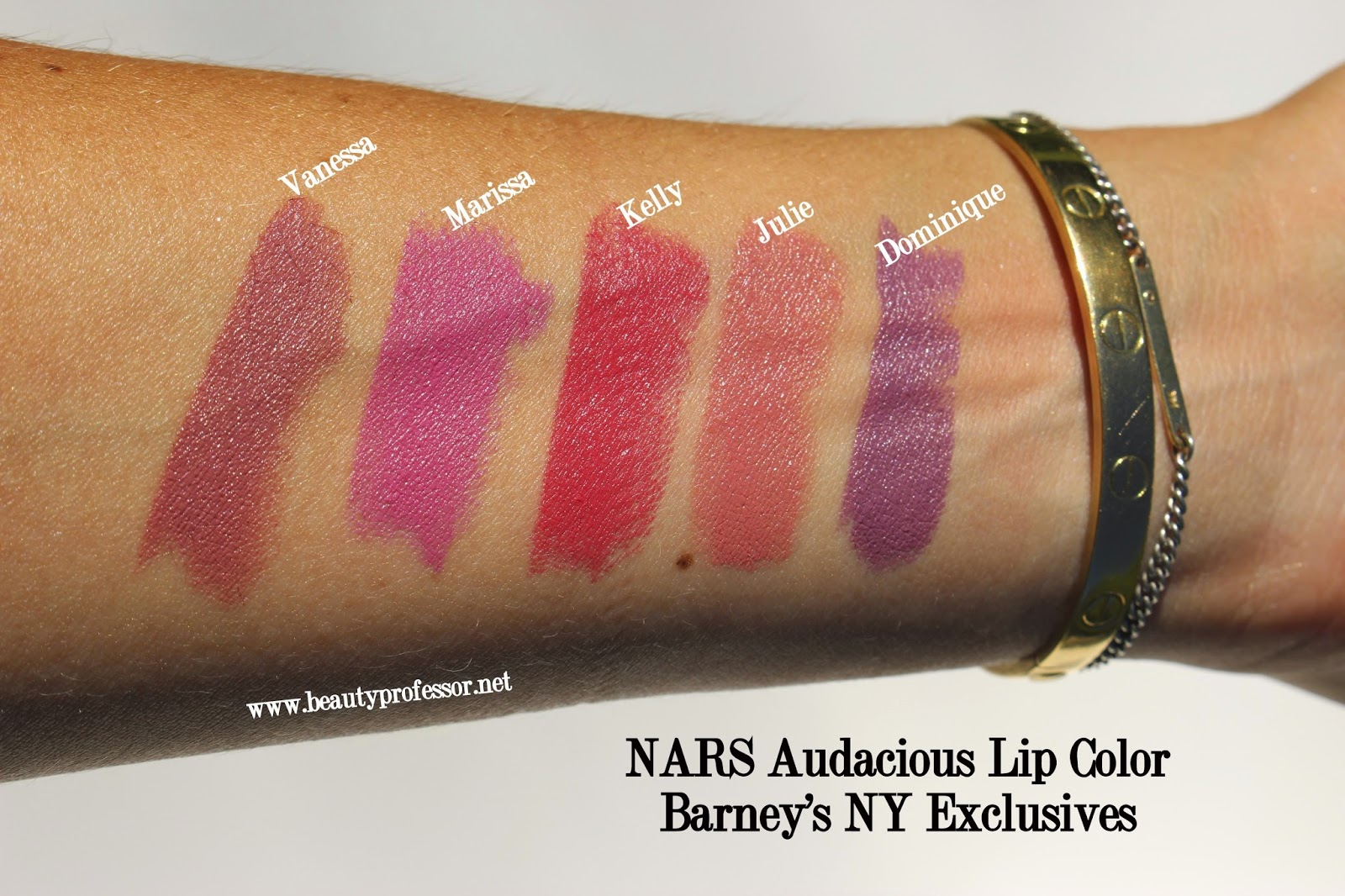 Populaire Beauty Professor: NARS Audacious LipstickSwatches of My Selections! ZV34
