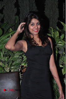 Actress Kavya Kumar Stills in Black Short Dress at F Club pre soft Launch  0016.JPG