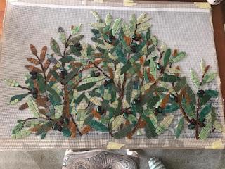 Zeytin Ağacı mozaik duvar panosu