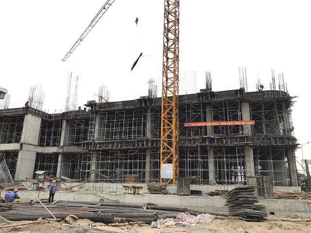 Tiến độ xây dựng tòa CT2B dự án Gelexia Riverside