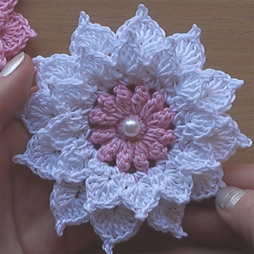 Crochet Flower - Very Easy Tutorial