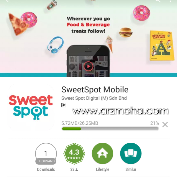 Sweetspot malaysia, sweetspot mobile app, kelebihan sweetspot mobile app,
