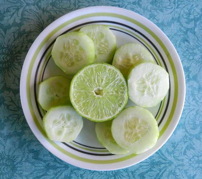 lime and cucumber slices photograph by Grow Creative
