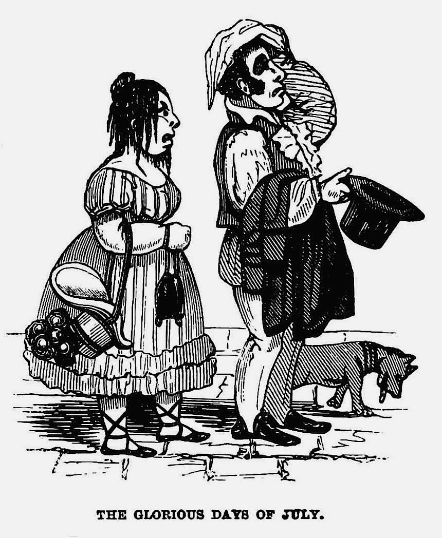 1861 heatwave cartoon, the glorious days of july