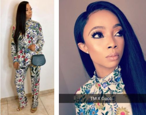 Toke Makinwa Shows Off Her 'Gucci Everything' Outfit