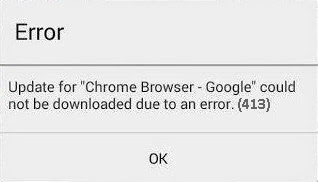 Fix Google Play Store Error Code 413