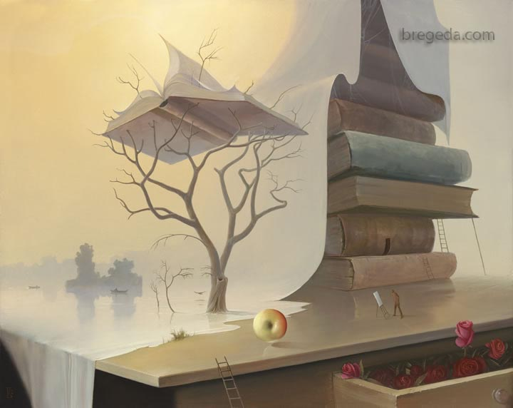 22-Tree-of-Knowledge-Victor-Bregeda-Surreal-Paintings-Encapsulating-a-Message-www-designstack-co