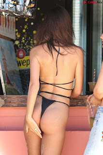 Emily Ratajkowski in Black Thong Bikini Beautiful    celebrity.co Exclusive 03