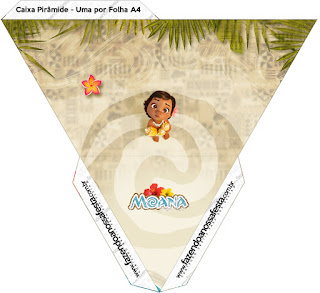 Moana Baby Free Printable Pyramid Box.