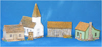 ACWBL-001: 10mm Church Set. Contains 4 model buildings