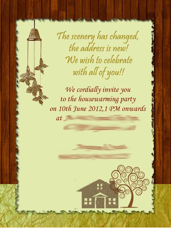 25 Images House Invitation Card Design