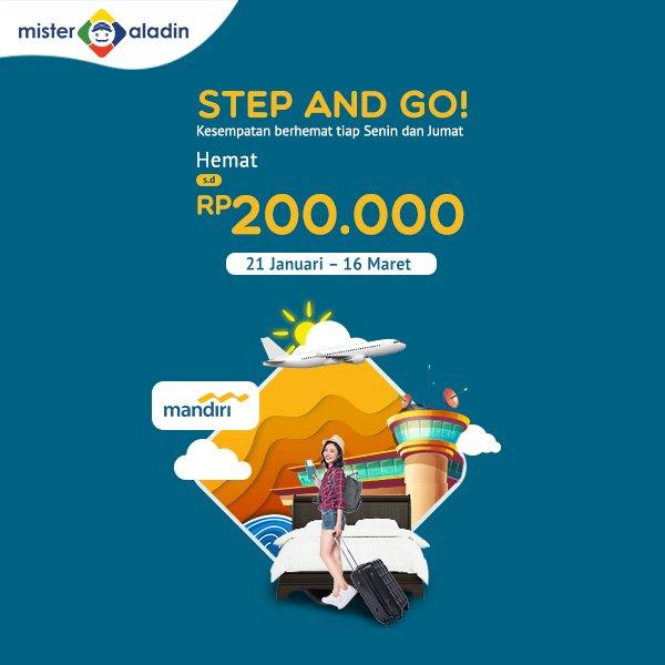 #MisterAladin - #Promo Diskon s.d 200K Hotel & Tiket Pesawat Tiap Senin & Jumat (s.d 16 Mar  2019)