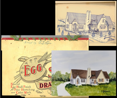 Drawings from 1945 - Watercolor 2019